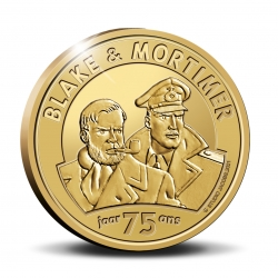 Moneda conmemorativa 25 € Bélgica Blake y Mortimer 75 años Oro 999/1000 (2021)