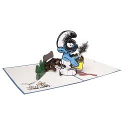 Hartensteler Pop Up Greeting Card The Smurfs, Jokey Smurf (15x20cm)