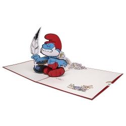 Hartensteler Pop Up Greeting Card The Smurfs, Papa Smurf (15x20cm)