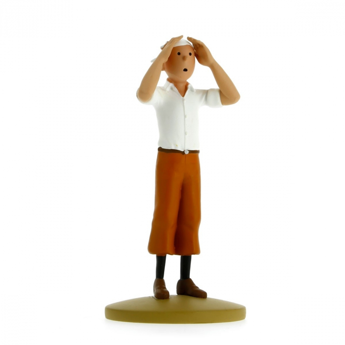 Collectible figurine Tintin in the desert 12cm + Booklet Nº77 (2014)