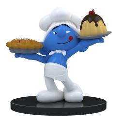 Figura de colección Puppy Blue Resin Los Pitufos, Pitufo cocinero 11cm (2021)
