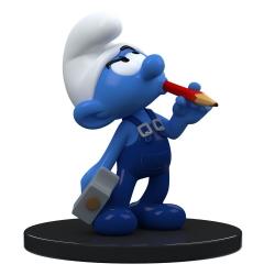 Figura de colección Puppy Blue Resin Los Pitufos, Pitufo Manitas 11cm (2021)