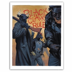 Póster cartel offset Blacksad Juanjo Guarnido, Black Claws Rule (50x70cm)