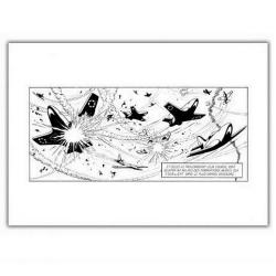 Póster cartel offset Blake y Mortimer, batalla aérea (35,5x28cm)