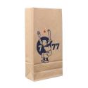 Bolsa en papel kraft reciclado Tintín de 7 a 77 años 34x18x8cm (04134)