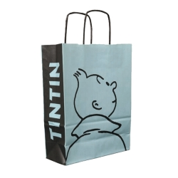 Sac en papier recyclé Tintin Perfil 28x21x9cm (04242)