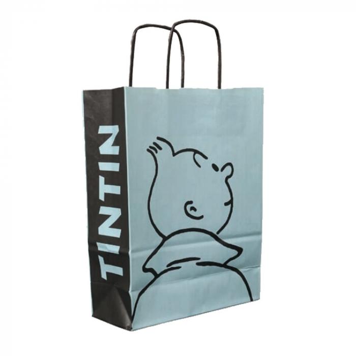 Bolsa en papel reciclado Tintín Perfil 28x21x9cm (04242)