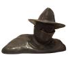 Busto de colección en bronce Pixi Blake y Mortimer, Olrik 5234 (2010)
