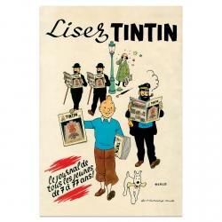 Póster Cartel Moulinsart de Tintín Lisez Tintin 23006 (40x60cm)