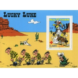 RF Stamp Lucky Luke on Horseback, Fête du timbre Nº55 (2003)
