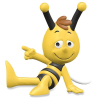 Schleich® figurine Maya the Bee, Willy sitting (27003)