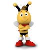 Schleich® figurine Maya the Bee, Willy with scarf (27009)