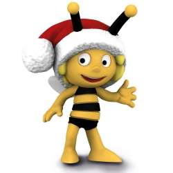 Schleich® figurine Maya the Bee, Maya with Christmas hat (27007)