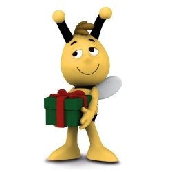 Figurita Schleich® La abeja Maya, Willy con regalo (27010)