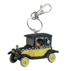 Porte-clés figurine Plastoy Gaston Lagaffe dans sa voiture 62145 (2021)