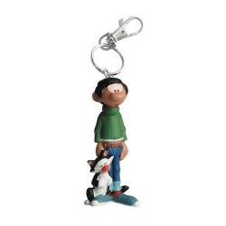 Porte-clés figurine Plastoy Gaston Lagaffe et son chat 62143 (2021)