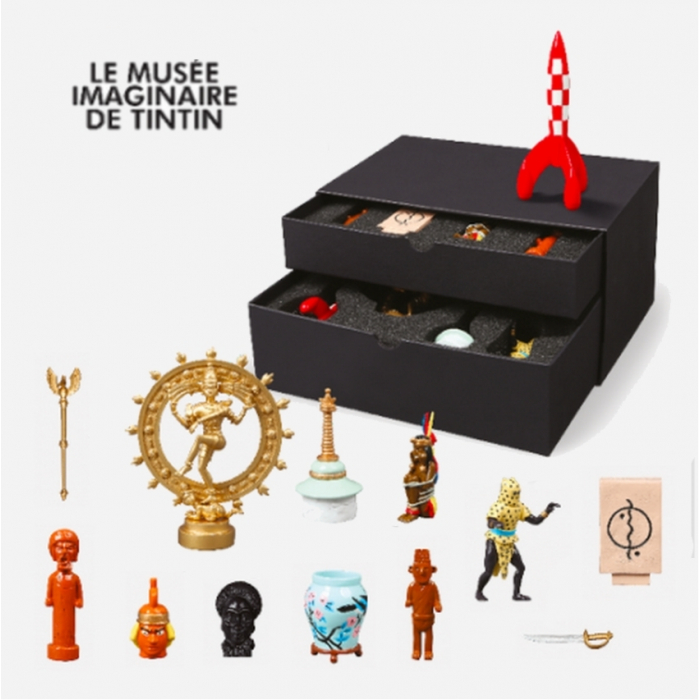 Set of 13 Moulinsart Tintin figurines Imaginary Museum collection 46530 (2021)