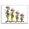 Decorative magnet Lucky Luke, The Dalton's angels (55x79mm)