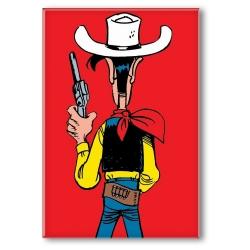 Imán decorativo Lucky Luke, Listo para disparar (55x79mm)