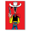 Decorative magnet Lucky Luke, ready to shoot (55x79mm)