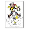 Aimant magnet décoratif Lucky Luke, Galop avec Jolly Jumper (55x79mm)
