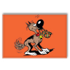 Decorative magnet Lucky Luke, Rantanplan biting a shoe (55x79mm)