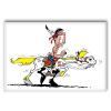 Aimant magnet décoratif Lucky Luke, Lucky Luke avec Jolly Jumper (55x79mm)