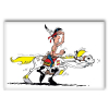 Decorative magnet Lucky Luke, Riding On Jolly Jumper (55x79mm)