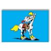 Imán decorativo Lucky Luke, Jolly Jumper enseñando la lengua (55x79mm)