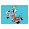 Aimant magnet décoratif Lucky Luke, Le bain (55x79mm)
