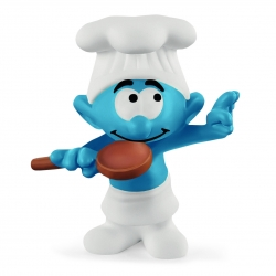 Figura Schleich® Los Pitufos - El Pitufo Jefe de cocina (20831)