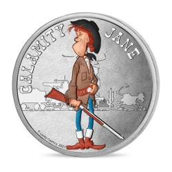 Collectible Medal Lucky Luke, Calamity Jane 34mm (2021)