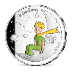 Commemorative coin 10 € France The Little Prince, Moon 75 Years (2021)
