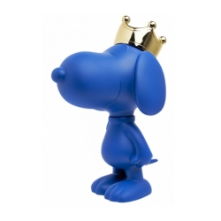 Figurine Leblon-Delienne Peanuts, Snoopy blue with chromed gold crown (2020)