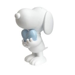 Figurine Leblon-Delienne Peanuts, Snoopy white and pastel blue heart (2021)