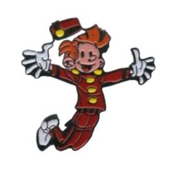 Pin's de colección Spirou y Fantasio, Spirou Saltando (1991)