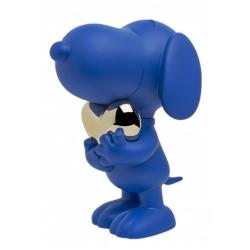 Figurine Leblon-Delienne Peanuts, Snoopy blue and chrome gold heart (2021)