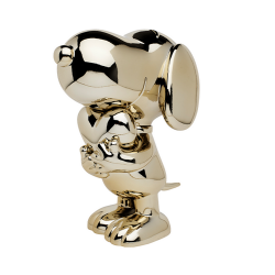 Figurine Leblon-Delienne Peanuts, Snoopy with chrome gold heart (2021)