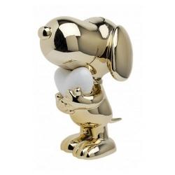 Figurine Leblon-Delienne Peanuts, Snoopy in chrome gold with white heart (2021)