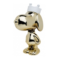 Figurine Leblon-Delienne Peanuts, Snoopy in chrome gold with white crown (2021)