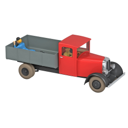 Voiture de collection Tintin, le camion rouge dans Le Lotus Bleu. Nº49 1/24 (2021)