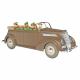 Collectible car Tintin, the brown Ford V8 convertible Nº50 1/24 (2021)