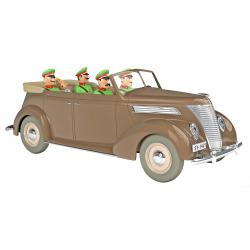 Voiture de collection Tintin, la Ford V8 décapotable marron Nº50 1/24 (2021)