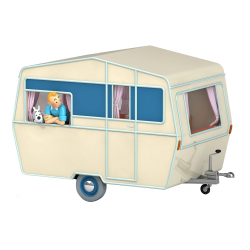Voiture de collection Tintin, la caravane des touristes dans L'île noire Nº51 1/24 (2021)