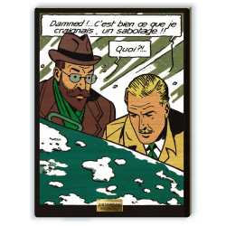 Collectible scene Akimoff Blake and Mortimer, Labrousse and Francis Blake (2021)