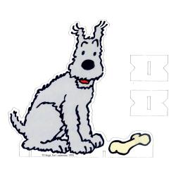 Silhouette en carton à monter PLV Tintin Hergé-Casterman 1992, Milou