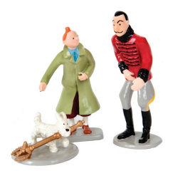 Collectible figurine Pixi Tintin and Snowy with King Ottokar
