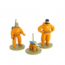 Figurines series Moulinsart Tintin, Haddock and Snowy Cosmonaut 46305 (2016)