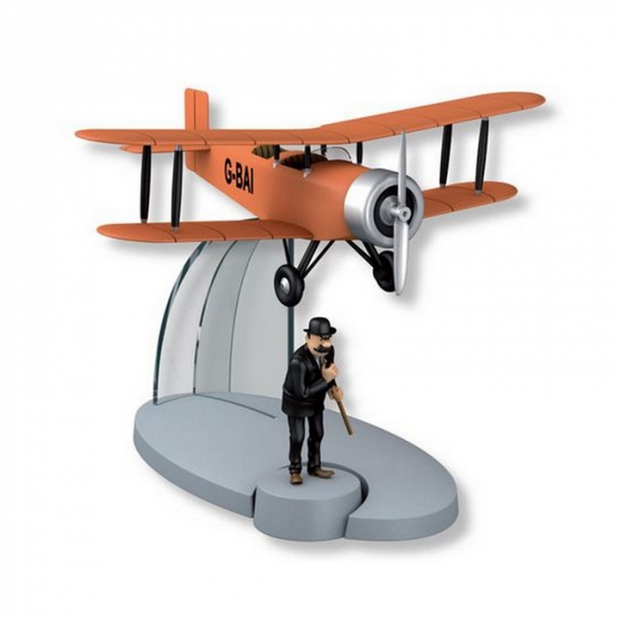 Figurine de collection Tintin L'avion biplan orange L'Île Noire 29548 (2016)