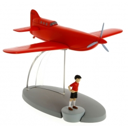 Figurine de collection Tintin L'avion Jo, Zette et Jocko Nº26 29546 (2016)